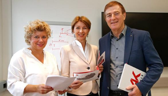 v.l.n.r.: Irene Hochstetter-Lackner,Gaby Schaunig, Günther Goach © Eggenberger, AK