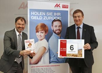 v.l.: Dr. Bernhard Sapetschnig, AK-Präsident Günther Goach © Eggenberger, AK
