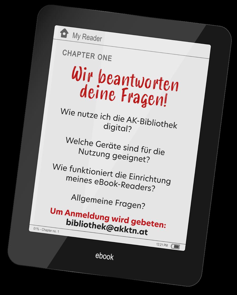 Unsere E-Book-Sprechstunden in Klagenfurt und Villach © AK Kärnten, AK Kärnten