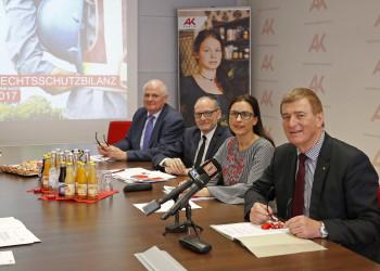 Fotos zur AK-Rechtsschutzbilanz 2017 © Eggenberger