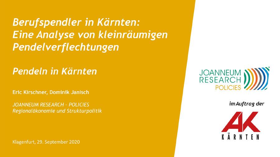 AK-Pendlerstudie © Joanneum Research