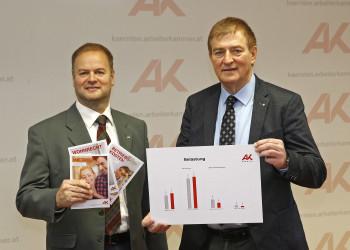 v.l.: Mag. Michael Tschamer, AK-Präsident Günther Goach © Eggenberger, AK