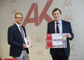 v.l.: Mag. Stephan Achernig, AK-Präsident Günther Goach © Helge Bauer, AK