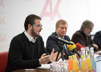 v.l.: Mag. Maximilian Turrini, AK-Präsident Günther Goach, Direktor-Stv. Dr. Gerwin Müller © Gernot Gleiss, AK