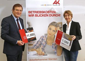 AK-Präsident Günther Goach, LHStv. Dr. Gaby Schaunig © Eggenberger/AK