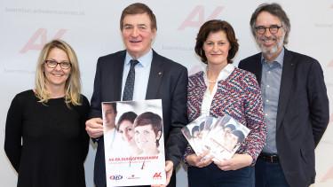 v.l.: Monika Hundsbichler, Günther Goach, Ursula Heitzer, Gerwin Müller © Gernot Gleiss, AK