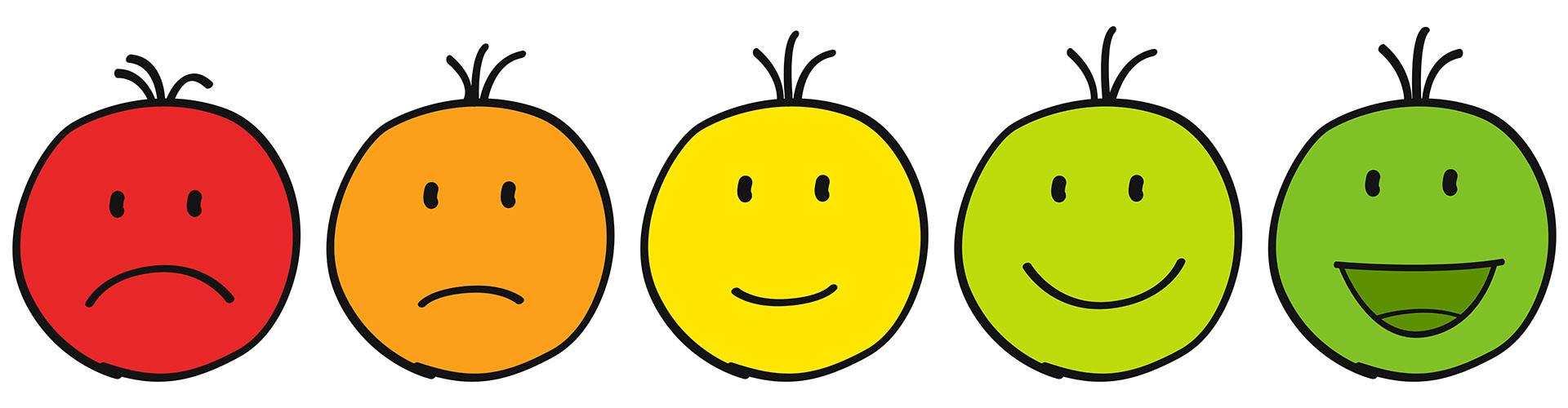 Smiley Bewertung von schlecht bis sehr gut © pixelfreund, stock.adobe.com
