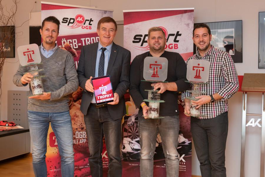 Gewinner der ersten AK-ÖGB Trophy 2018 © Arnold Pöschl, AK Kärnten