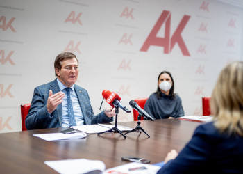 AK-Präsident Günther Goach, Mag. Susanne Kißlinger © Waschnig, AK