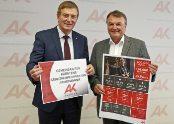 v.l.: AK-Präsident Günther Goach, AK-Direktor Dr. Winfried Haider © Eggenberger, AK