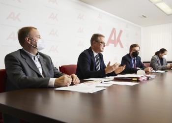 v.l.: Michael Tschamer, Stephan Achernig, Günther Goach, Ferdinand Hafner © Johannes Puch, AK