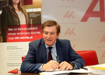 Pressekonferenz - Mit dem Betriebsrat stark durch die Krise © Krainz, AK Kärnten