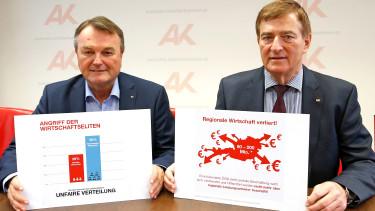 v.l.: Direktor Winfried Haider, AK-Präsident Günther Goach © Eggenberger, AK